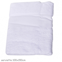serviette de bain a broder 100x150cm