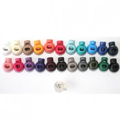 10 arrets de cordon rond 5 mm couleurs au choix