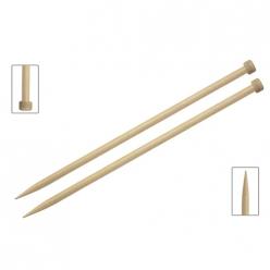 aiguilles en bois 40 cm special gros fils basix