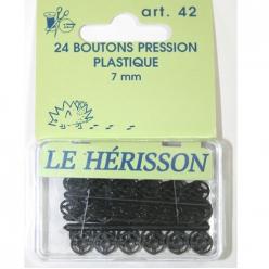 bouton pression plastique noir 7mm x24