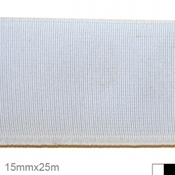 elastique tisse polyester 15mm x 25m