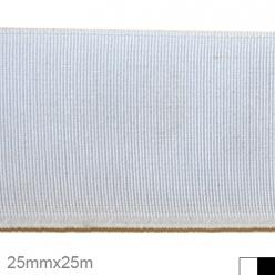 elastique tisse polyester 25mm x 25m