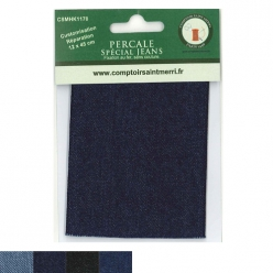 piece percale thermocollante jeans 12x45 cm