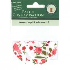 3 coeurs pour customisation fleuri rose