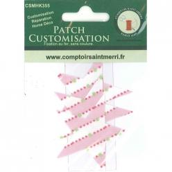 3 etoiles pour customisation rayure rose