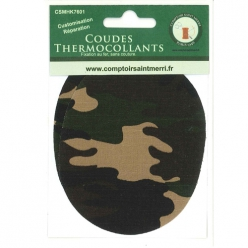 coudes thermocollants fantaisies camouflage