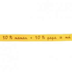 ruban satin 8mm texte 50 papa 50 maman