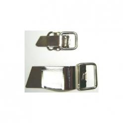 clip metal argent  10paires