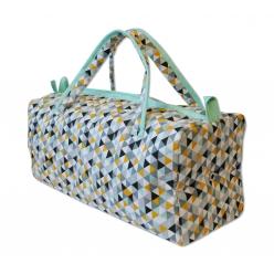 sac a ouvrage avec oeillets losanges