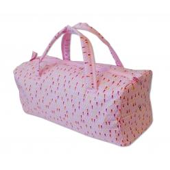 sac a ouvrage avec oeillets pastel rose