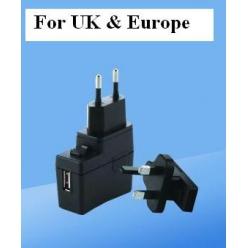 adaptateur secteur usb pour foldi euro  noir