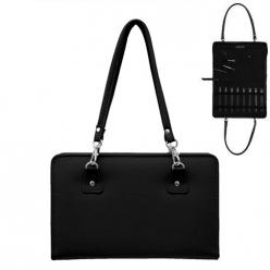 sac en similicuir noir pour aiguille a tricoter  thames bag