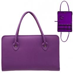 sac en similicuir violet pour aiguille a tricoter  thames bag