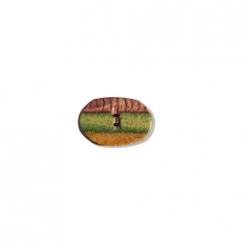 bouton plat oval bois 23mm