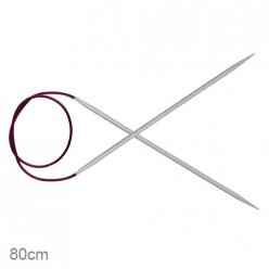aiguilles circulaires fixes en alu 80cm basix