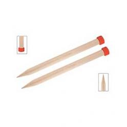 aiguilles en bois 40 cm jumbo basix