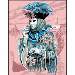canevas antique carnaval de venise  50x65cm