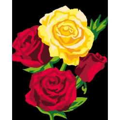 kit canevas enfant 2520 roses