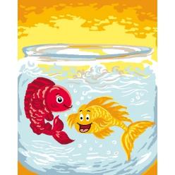kit canevas enfant 2520 les poissons