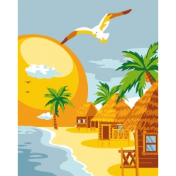 kit canevas enfant 2520 plage