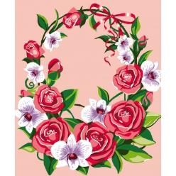 kit canevas enfant petits trous 2530 cm floral