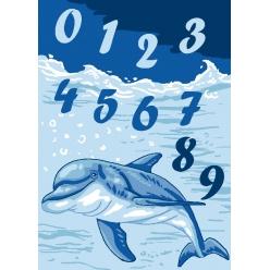 kit canevas enfant petits trous 2530 dauphins