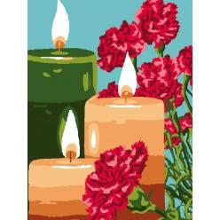 kit canevas enfant petits trous 2530 cm bougies