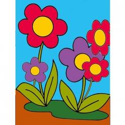 kit canevas enfant fleur 20x25cm