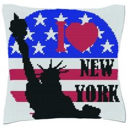 kit coussin demi point  i love new york