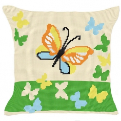 kit coussin demi point  les papillons