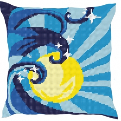 kit coussin demi point  vague