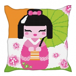 kit coussin demi point kokeshi