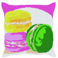 kit coussin demi point macarons