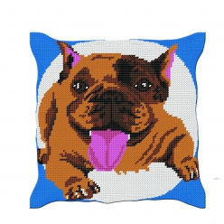 Kit coussin demi-point bouldog (40x40 cm fini)
