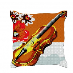 Kit coussin demi-point Violon (40x40 cm fini)