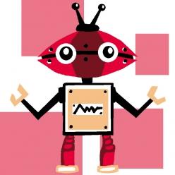 kit canevas soudan 20x20 cm robot