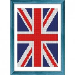 kit a broder au point de croix  drapeau grande bretagne