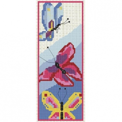 kitbroderpointdecroixmarquepage papillons