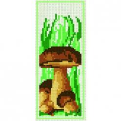 kit a broder point de croix marque page  champignon