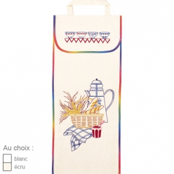 sac a pain en coton blanc ou ecru  petit dejeuner