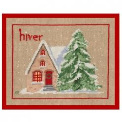 kit broderie traditionnelle maison d hiver