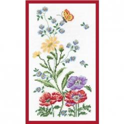 kit broderie traditionnelle fleurs des champs