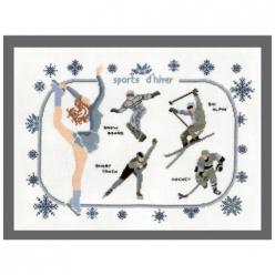 kit a broder point de croix sports d hiver modele a