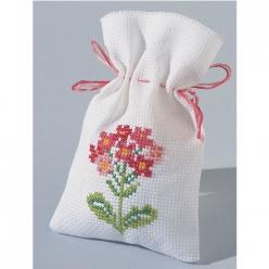 kit a broder point de croix sachet senteur fleurs roses