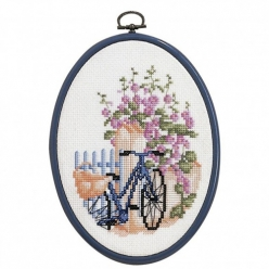 kit de broderie point de croix  bicyclette