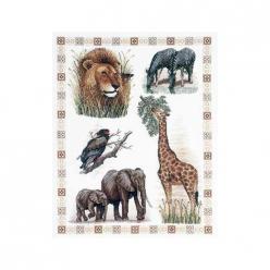 kit a broder point de croix  les animaux d afrique