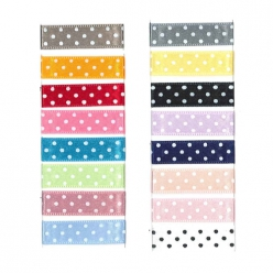 ruban satin a pois 10mm  25m