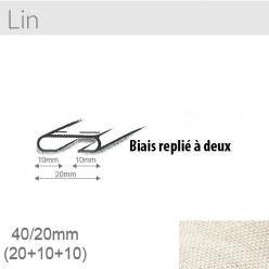 biais lin 20mm unis replie a 2  15m