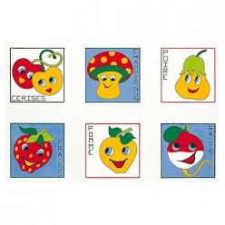 serie de 6 canevas assortis fruits et legumes