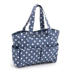sac pour activites de loisirs creatifs polka bleu